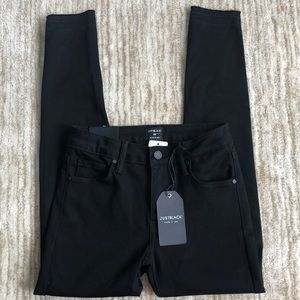 NEW Just Black Jet Set Raw Edge Skinny Pant